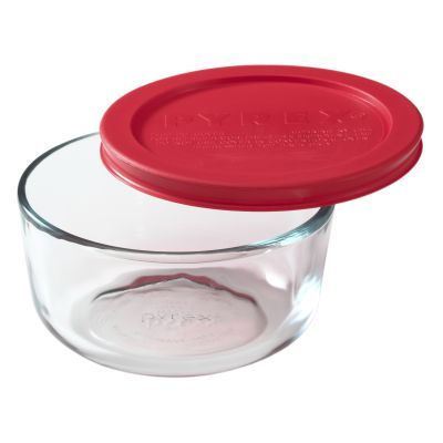 Pyrex Simply Store 2 Cup Round Dish W Red Lid Products In 2019 Glass Food Storage Pyrex Food Storage Containers