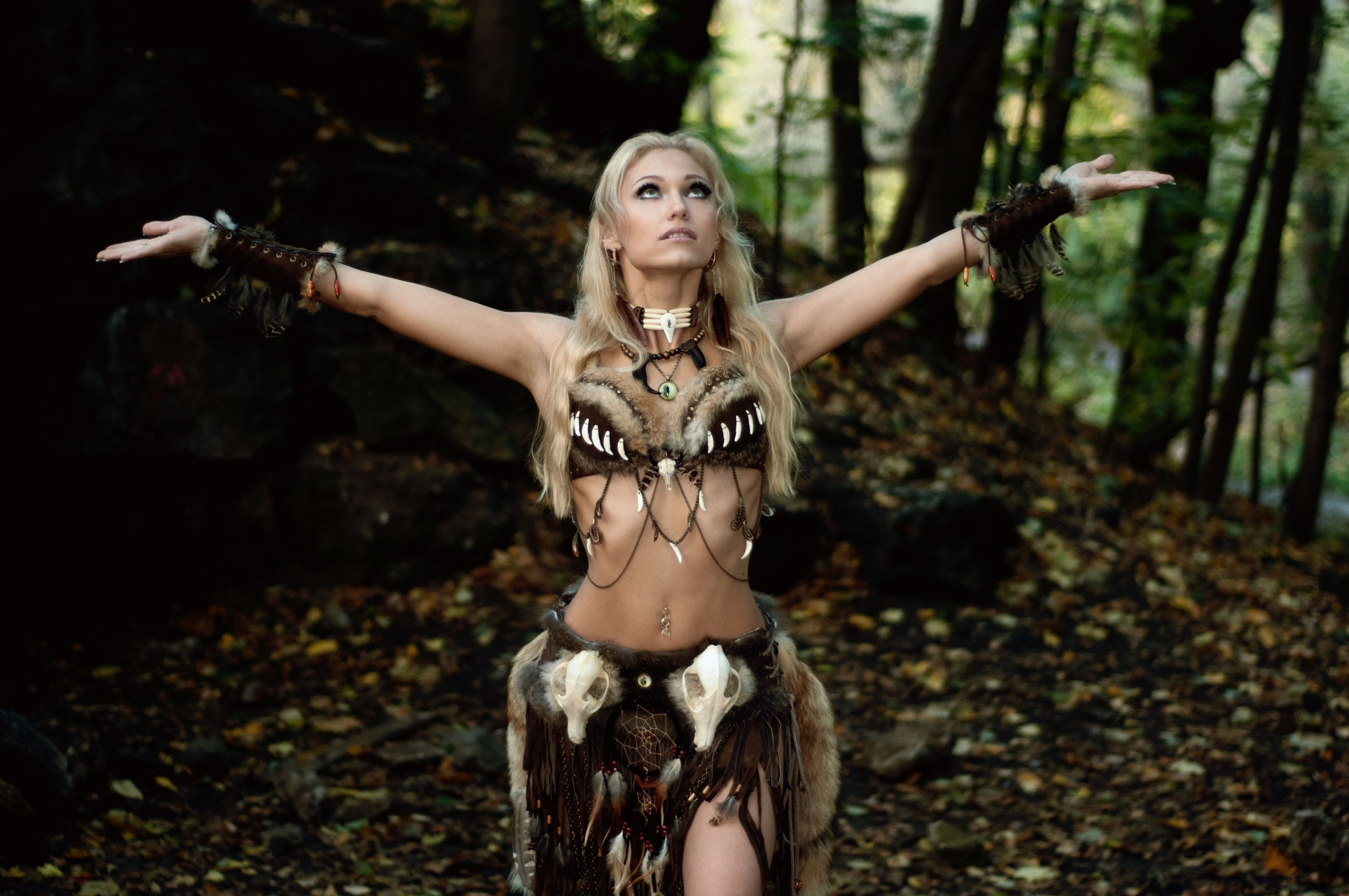 Warrior Cave Woman Larp Fantasy Cosplay Other
