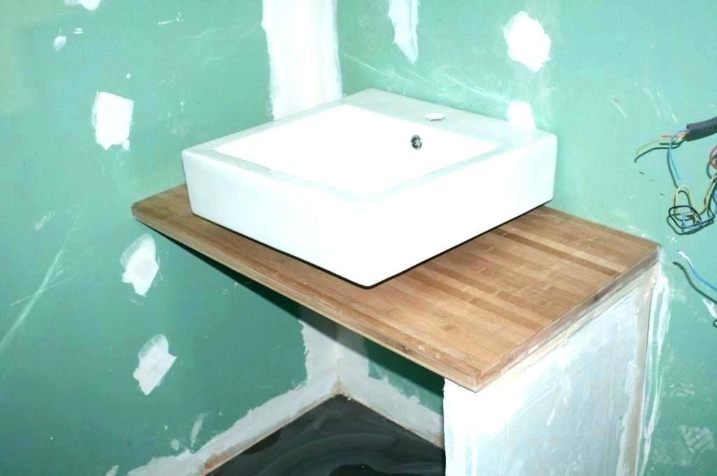 Fabriquer Un Meuble Sous Vasque Beau Salle De Bain Son En Palette Cracation Comment Soi Meme Travaux Salle De Bain Meuble Salle De Bain Meuble De Salle De Bain