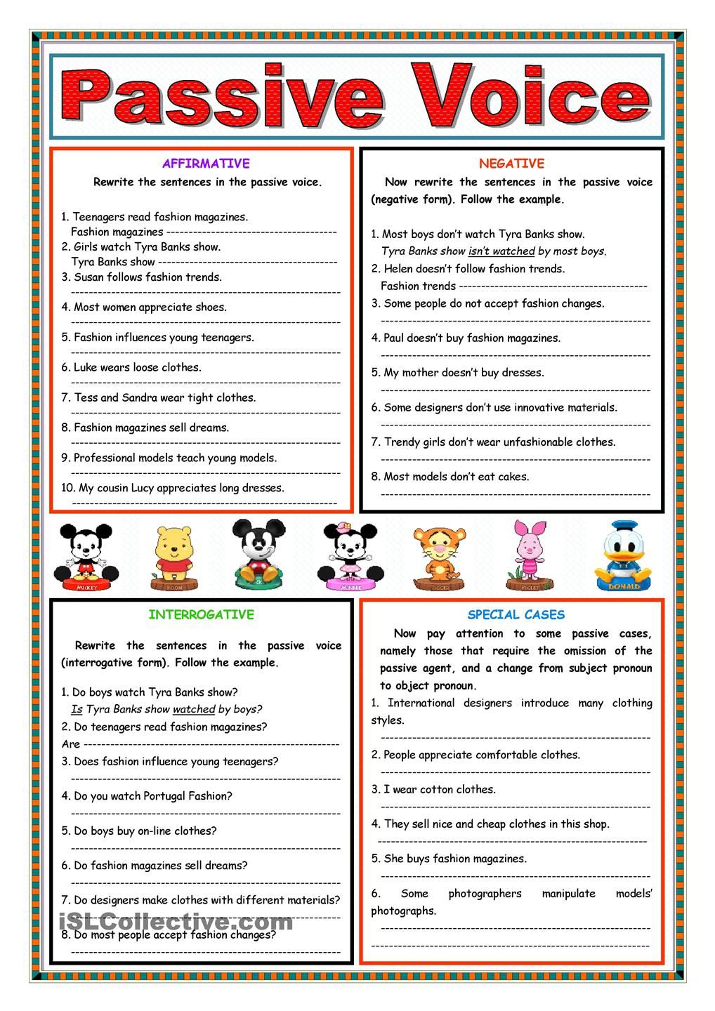 worksheet Passive Voice Worksheet passive voice present simple pinterest worksheet free esl printable worksheets made by teachers