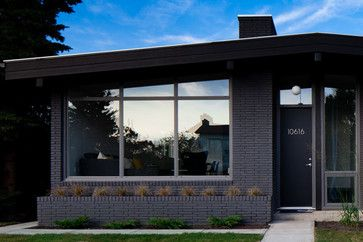 Dark Gray Painted Brick House Numbers On Door Exteriors