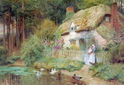 Flores y Palabras: Arthur Claude Strachan: Casas de campo