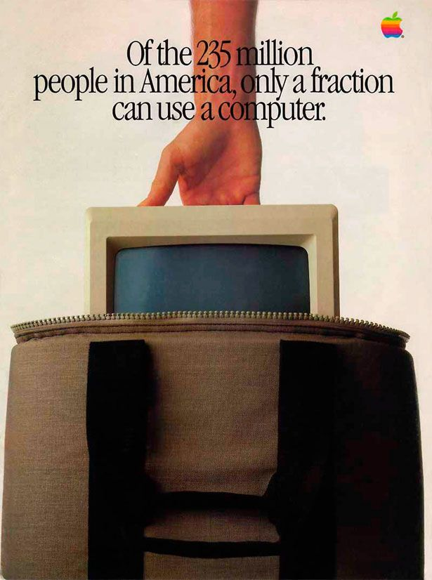 Apple - Only a fraction use a computer - 1984