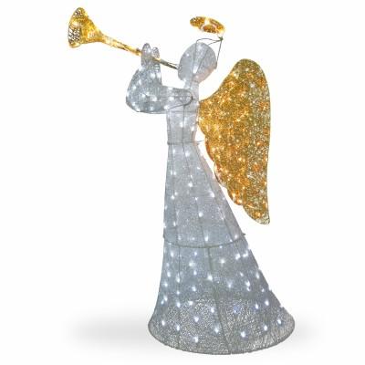 National Tree Co-Import TDF-210004W-UL Crystal Christmas Angel