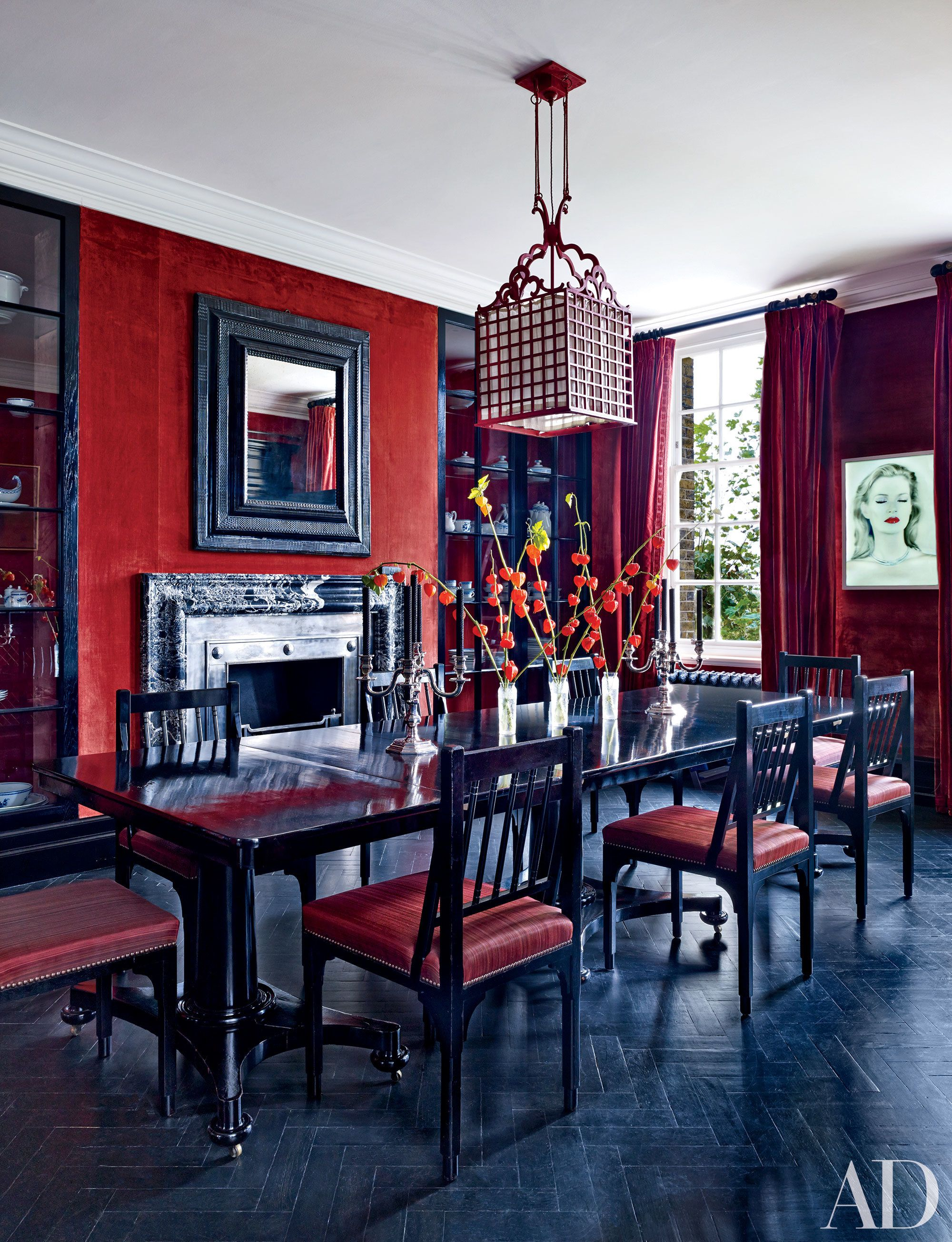 Audacious Red Rooms from the Pages of | Red dining room ...