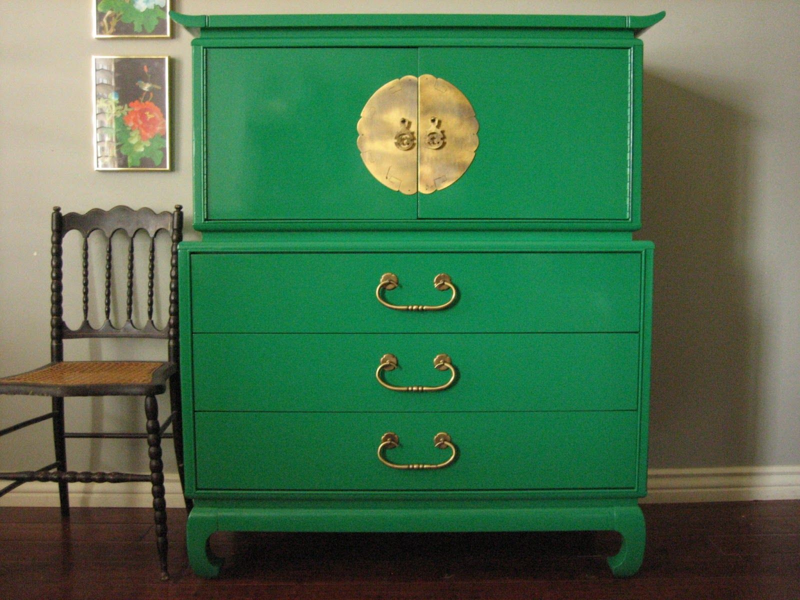 Delicieux Olive Green Cabinet To Accent An Earthy Color Into The Home With Brown Wood  Furniture. Description From Pinterest.com. I Searched For This On Bing.com/  ...