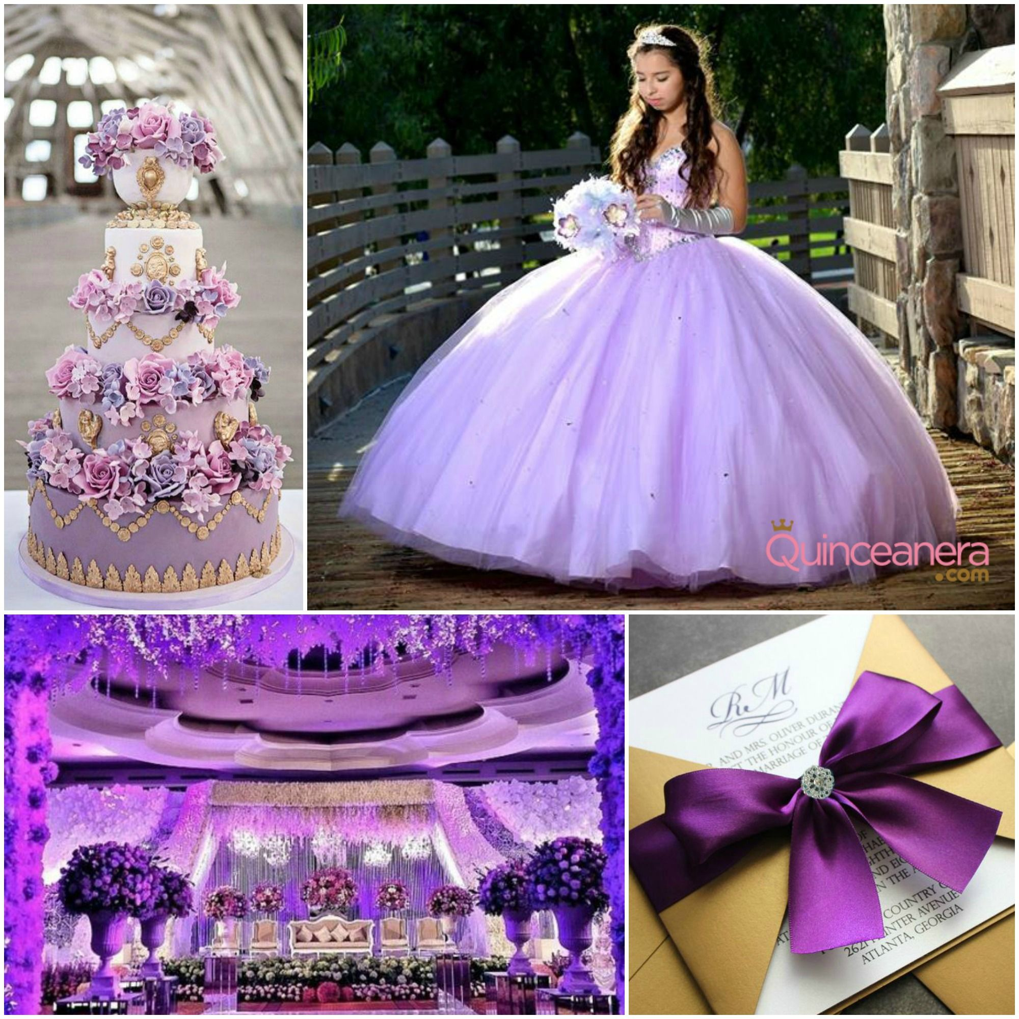 Quinceanera decorations purple the for Quinceanera decoration