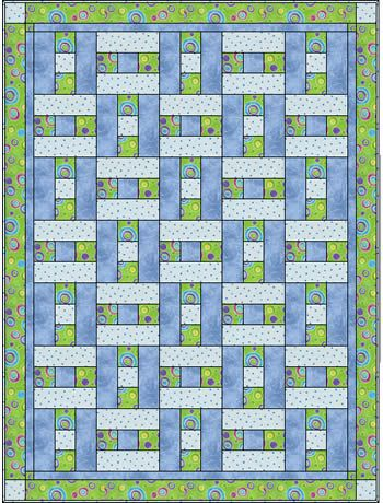 3 Fabric Quilt I Think This Simple Pattern Would Like Striking In