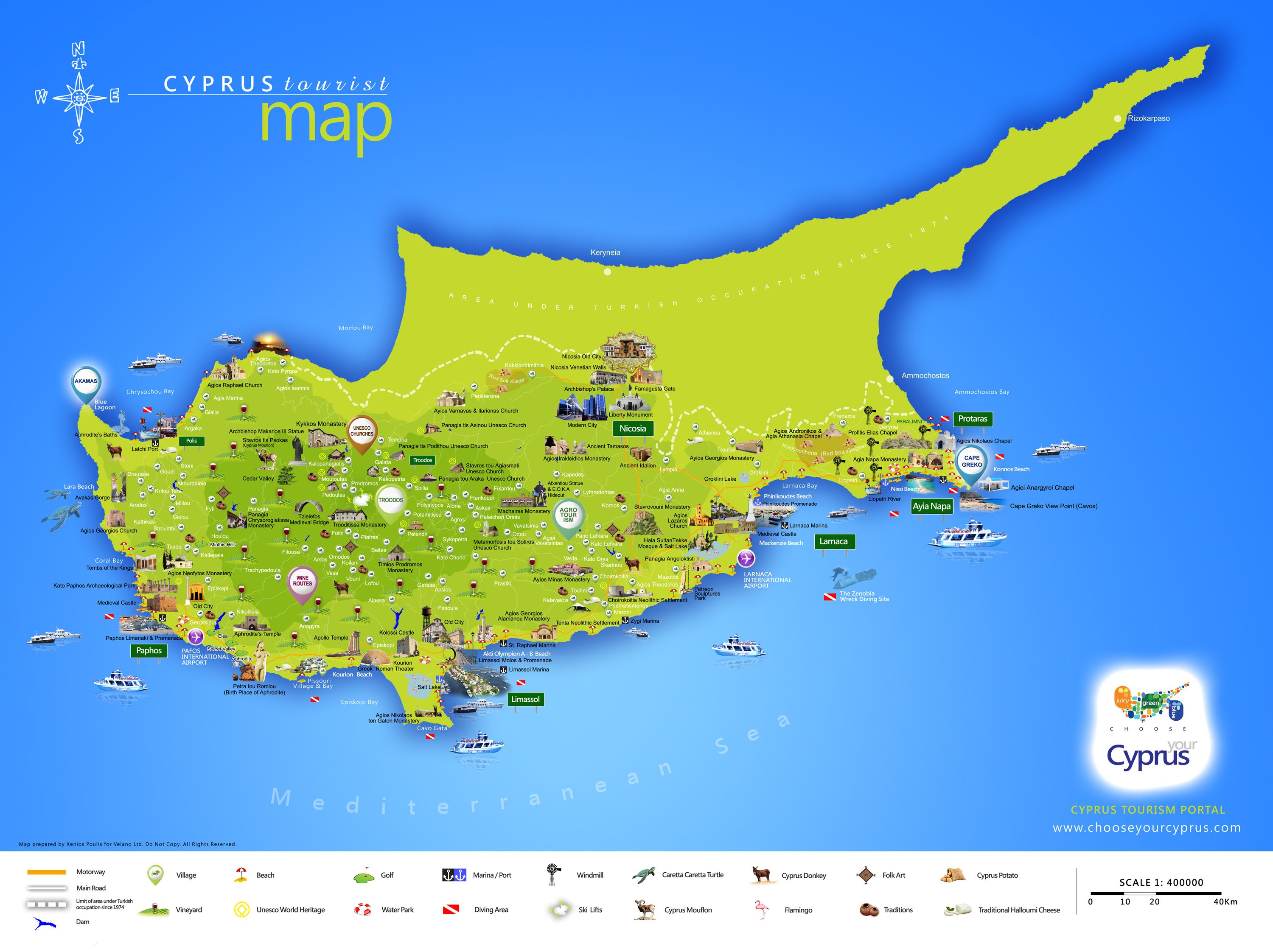 Beautiful Cyprus tourist map cyprus cyprusmap cyprustourism https