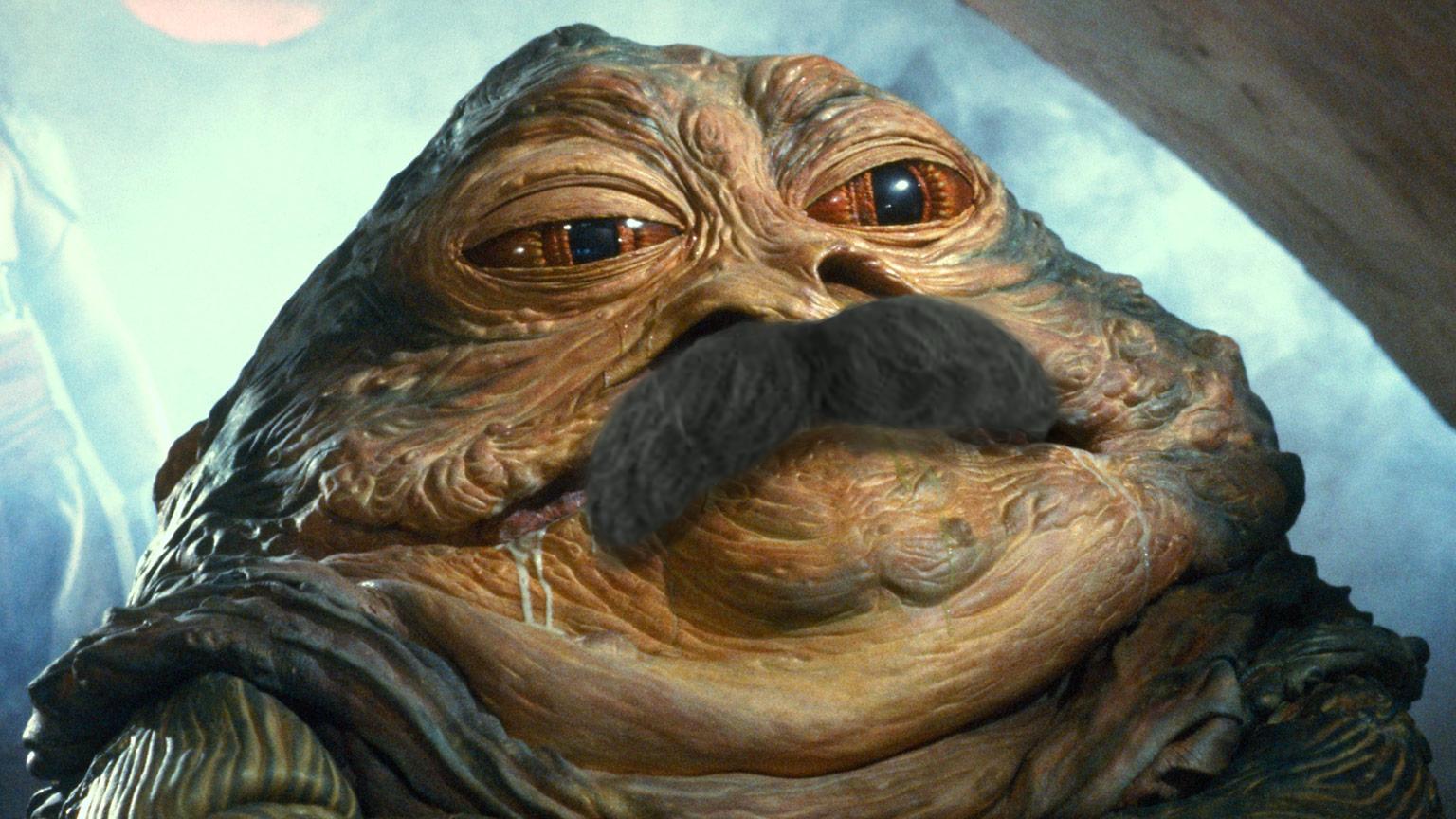 Star Wars A Full Moustache New Hope Jabba The Hutt Starwars Rogueone Sw Givethatdroidapropermoustache Moustac Jabba The Hutt Star Wars Facts The Hutt