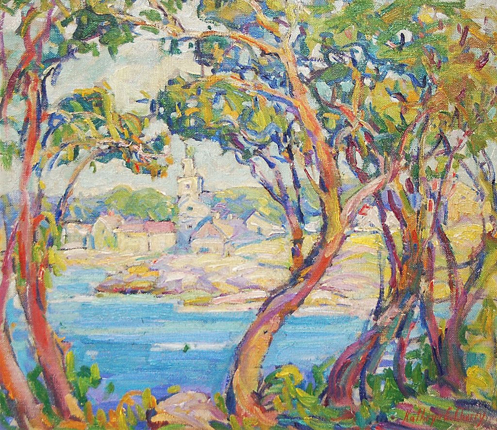 Gloucester Bay Kathryn Cherry Ca 1910 Oil On Canvas 14 X 15 3 4 Kodner Gallery St Louis Art Glowing Art Figure Painting