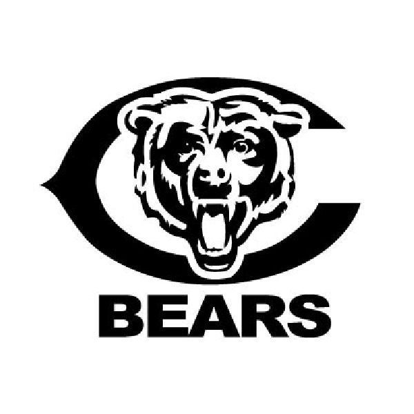Chicago bears logo vinyl sticker decal football sports fan illinois 110