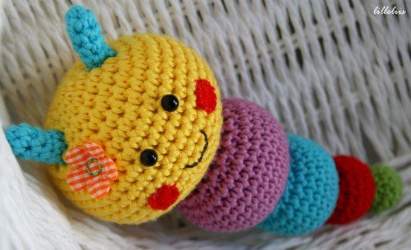 Amigurumi Caterpillar : Caterpillar rattles for babies babies amigurumi and crochet