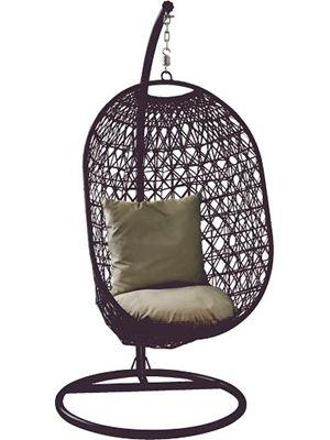 Tarrington House Hangstoel lounge zwart / makro 269 ...