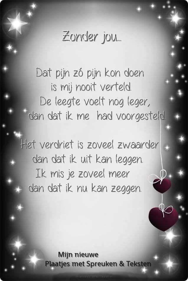 Gedicht ik mis je