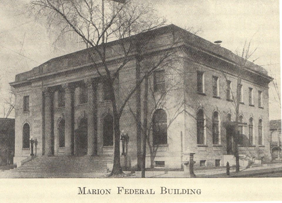The Post Office In Marion Indiana Circa 1909 Marion Indiana Old Pictures Local History
