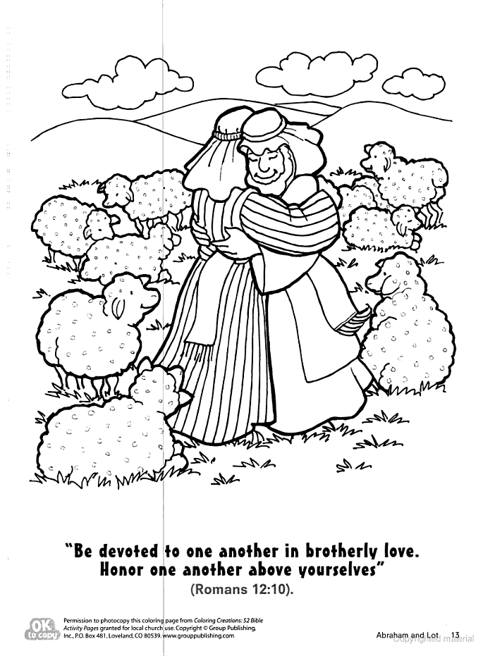Abraham lets Lot choose land coloring page. … | Sunday ...