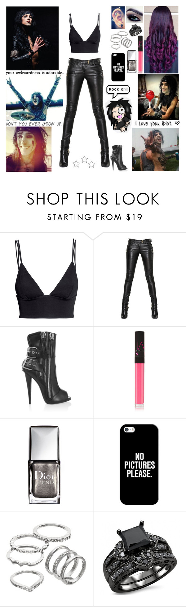 """Happy Birthday Christian! At His Birthday Party."" by blueknight ❤ liked on Polyvore featuring H&M, Balmain, Giuseppe Zanotti, NARS Cosmetics, Christian Dior, Casetify, Apt. 9 and CC"
