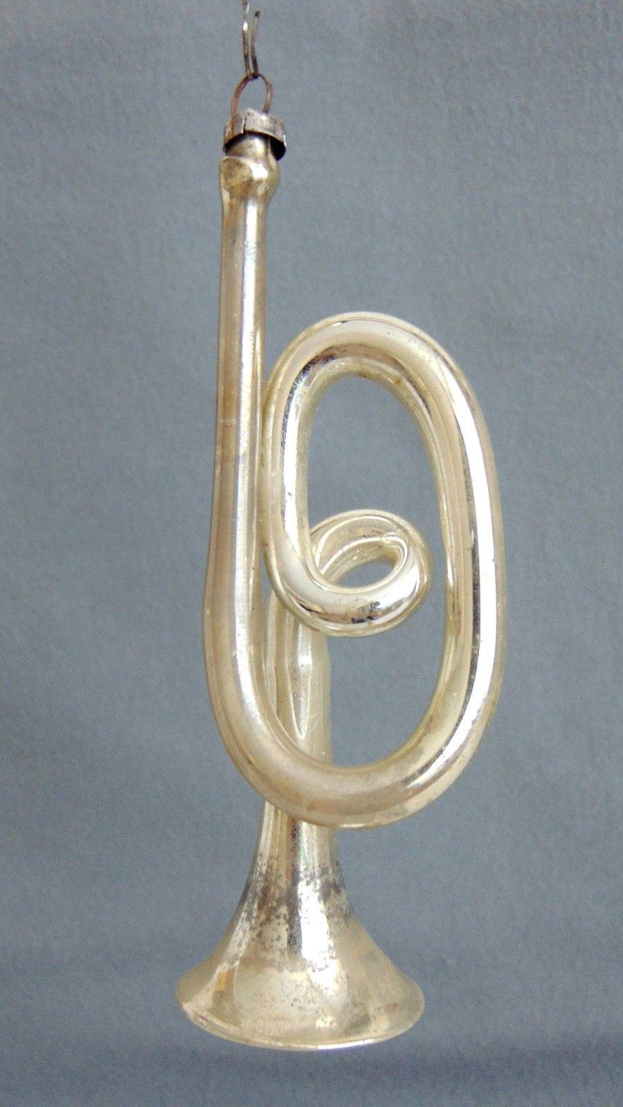 Details Zu Alter Christbaumschmuck Lauscha Trompete Um 1900 1910