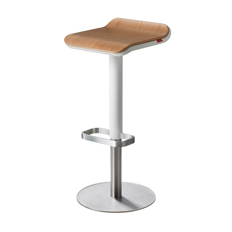 Oak Bar Stool – ED Adjustable Bar Stool White/ Oak | Barhocker ...