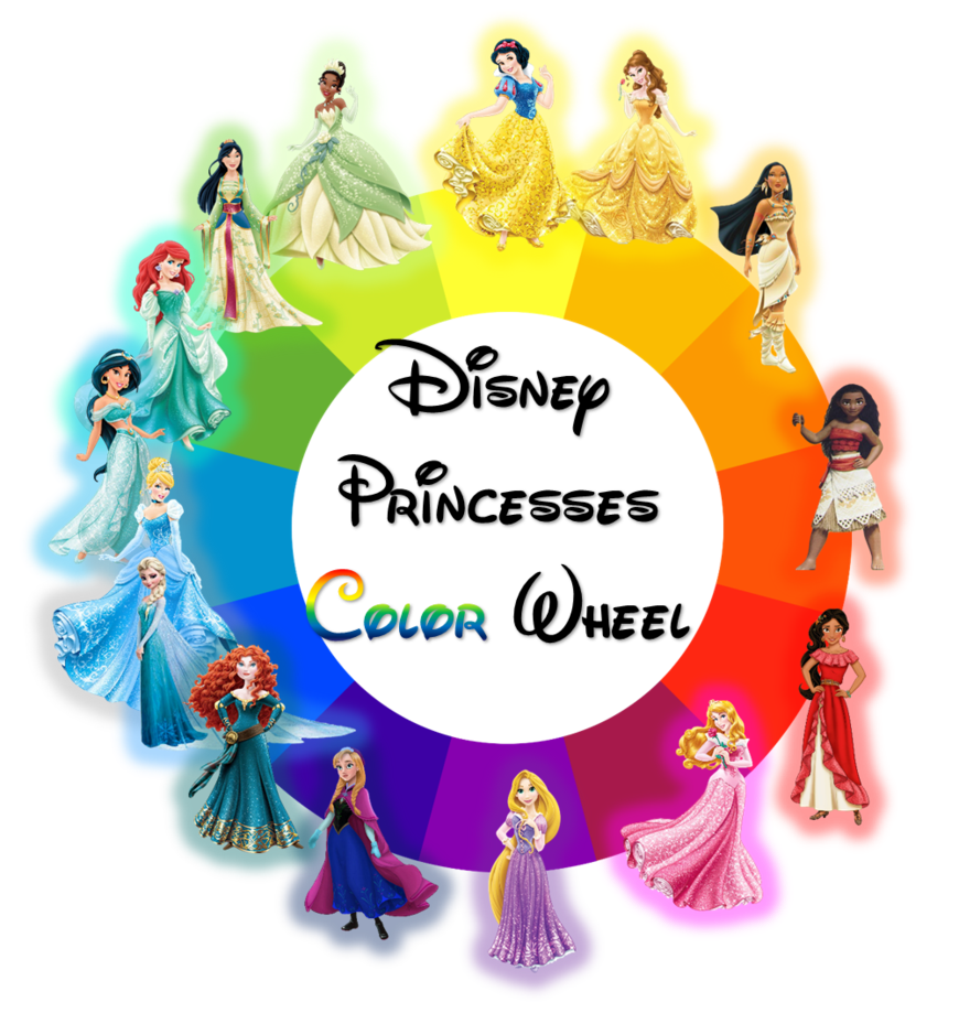 - Disney Princesses Placed In The Color Wheel. Yellow - Snow White