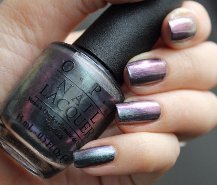 OPI San Francisco ~PEACE & LOVE & OPI~ Holographic Purple Green Nail ...