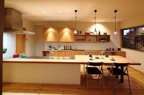 キッチンカウンターダイニングテーブル兼用 の画像検索結果
