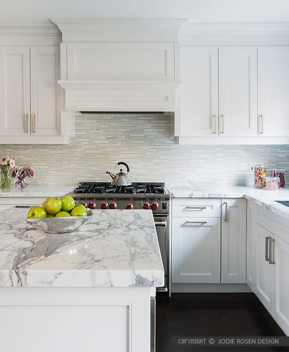 Modern White Marble Glass Kitchen Backsplash Tile Backsplash Com