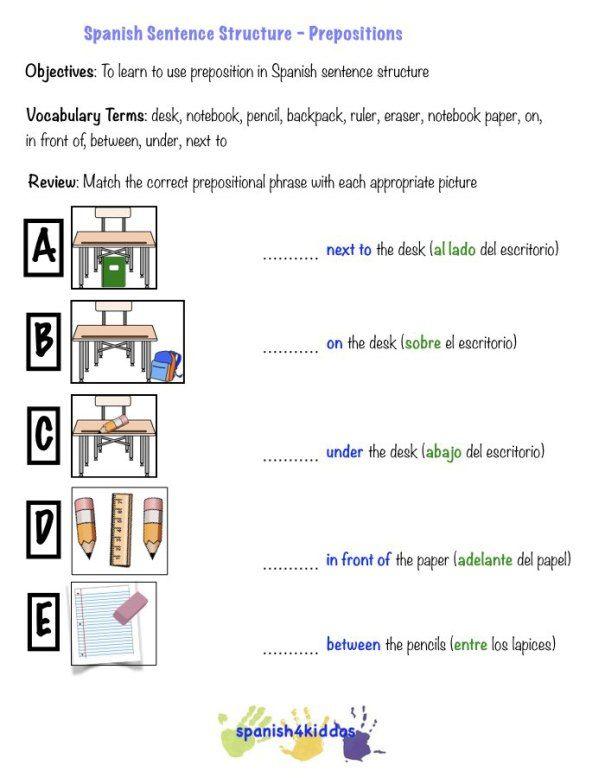 spanish to english sentences pdf