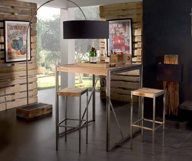 Mesa Alta de diseño industrial colección URBAN FACTORY. Decoración ...