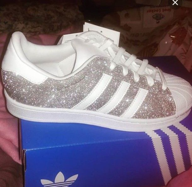 adidas superstars women glitter