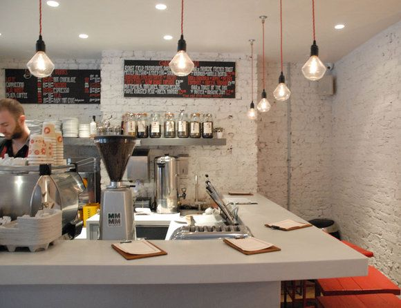 Gails, Wardour St, London.  Coffee shop London stylie--imagine setting your own kitchen at home to this. Amazing