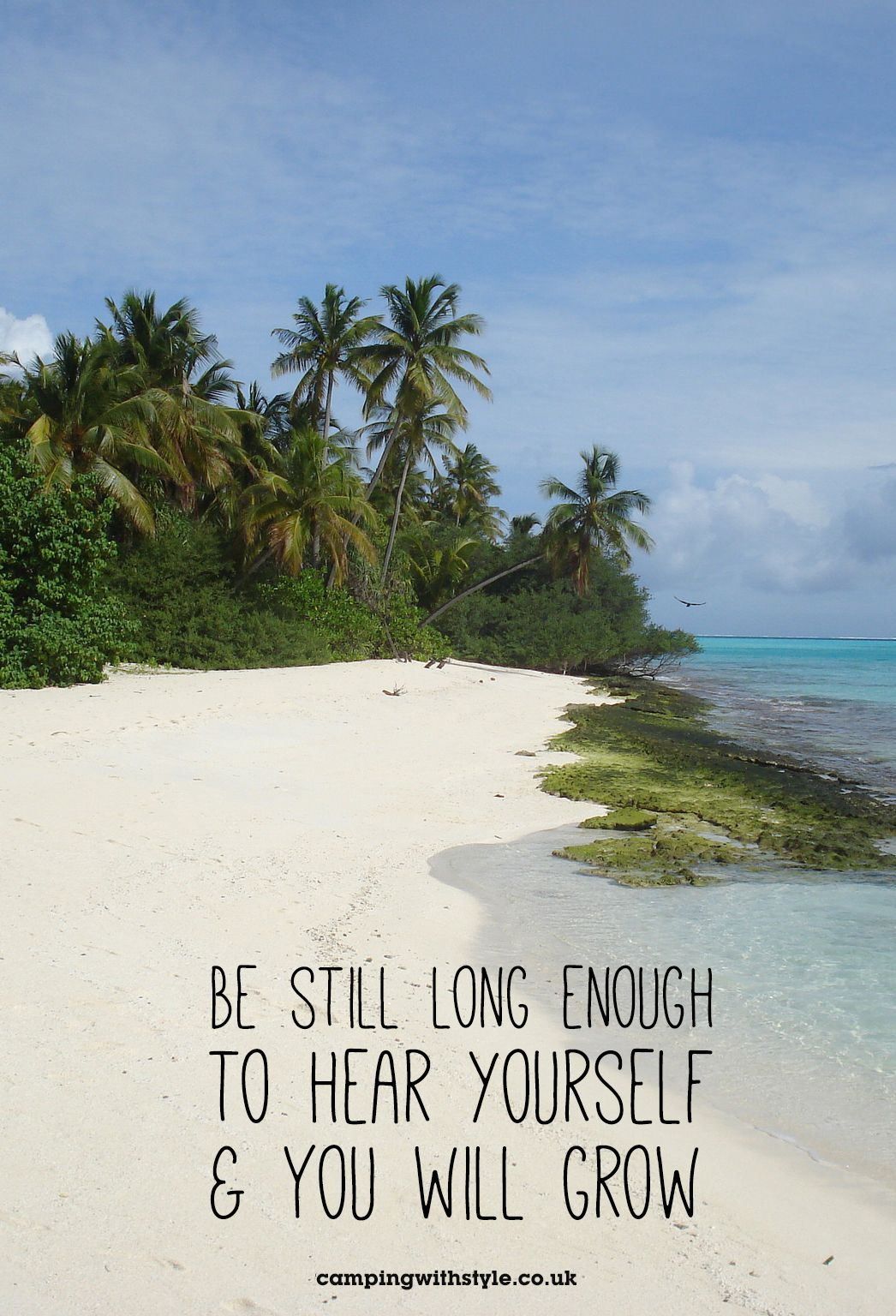 Be Still Long Enough To Hear Yourself And You Will Grow #quote #travel #