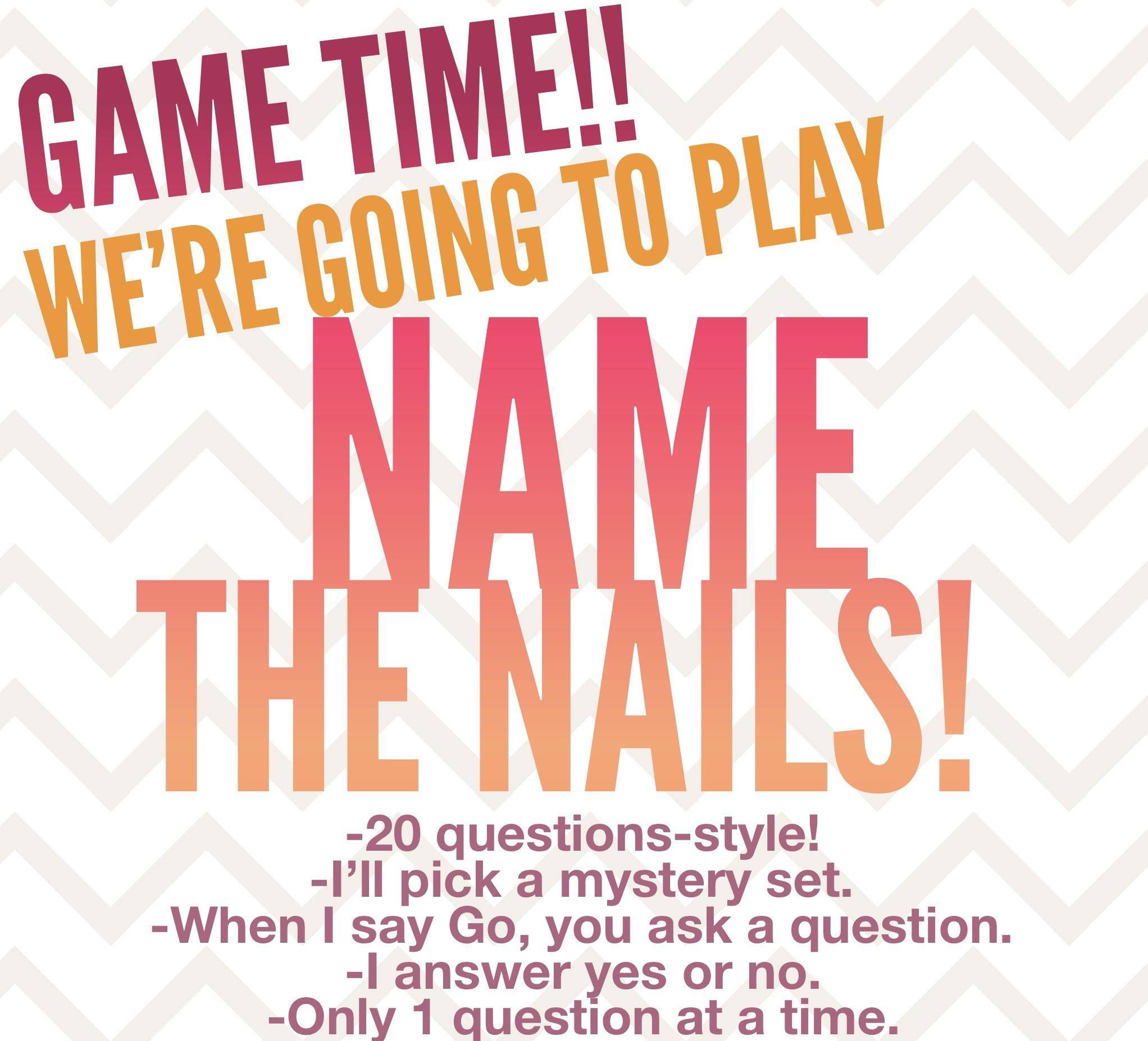 Color Street engagement game I made, giveaway nails or