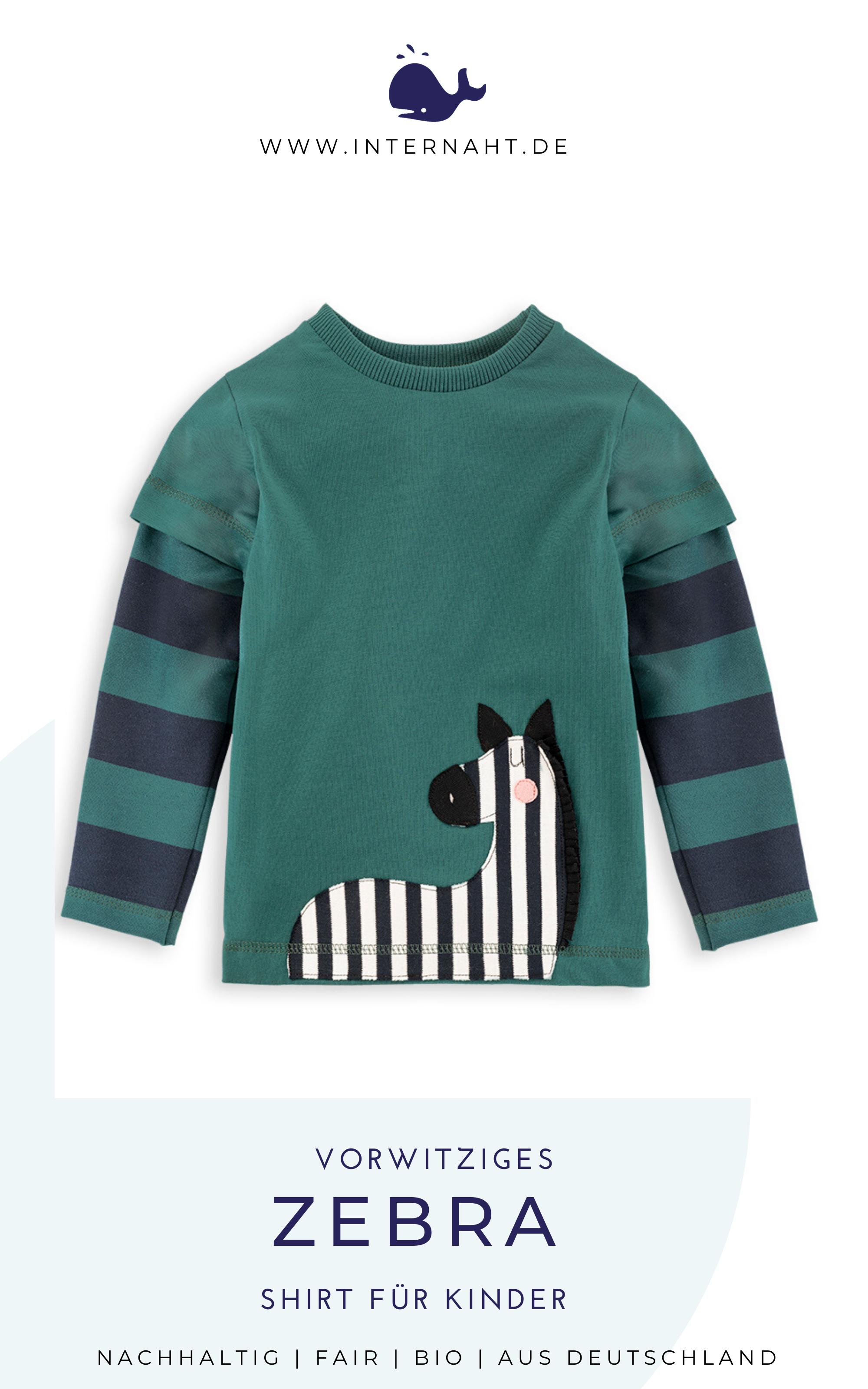 Langarmshirt Zebra in 2020 | Bio kleidung, Kind mode, Kleidung