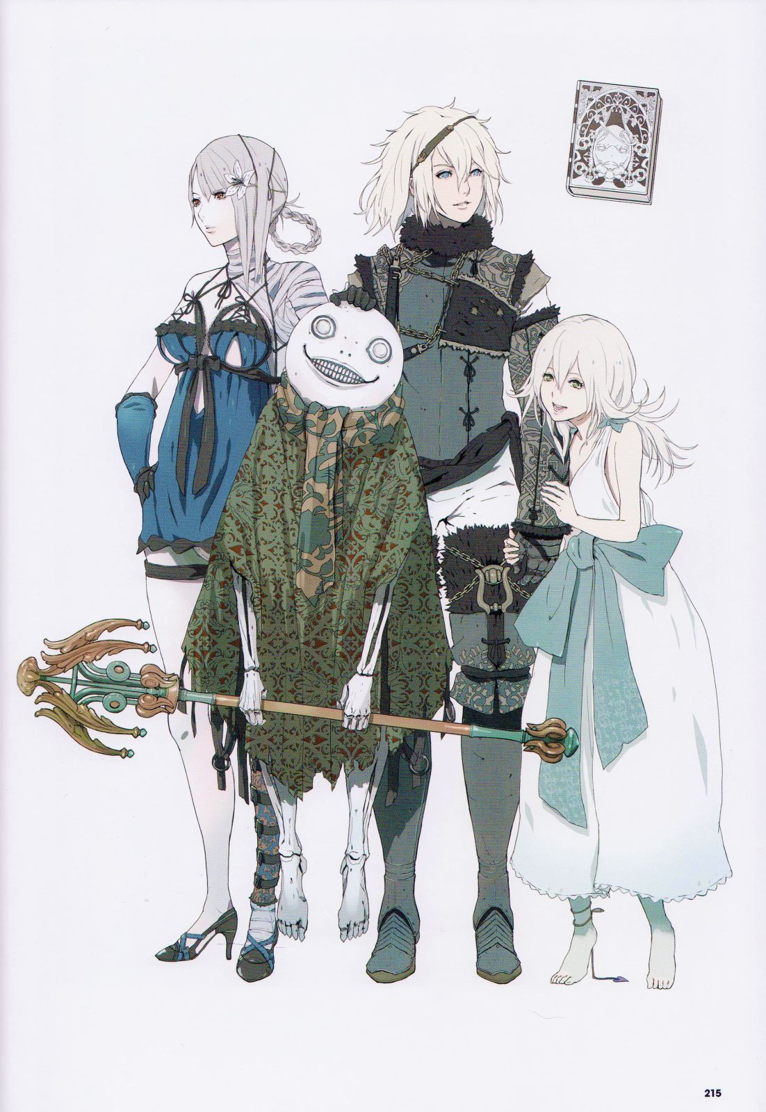 Nier Replicant Art Book In 2019 Character Design Game