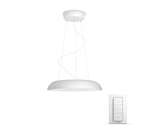 Integrieren Sie die Philips Hue White Ambiance Amaze Pendelleuchte in Ihr Philips Hue Lichtsystem, und genießen Sie natürliches, weißes Licht, das Ihnen beim Aufwachen, Energietanken, Konzentrieren, Lesen und Entspannen hilft. Genießen Sie diese einzigartige Design-Pendelleuchte, die in jedes Zuhause passt.