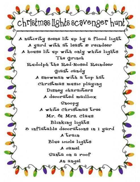Cub Scout Christmas Party Ideas Part - 17: Cub Scout Christmas Lights Scavenger Hunt