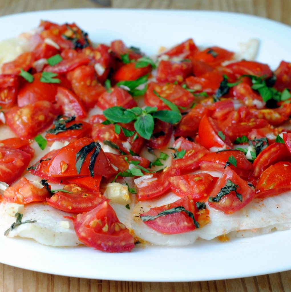 Baked Sole with Tomatoes and Garlic Basil recipes