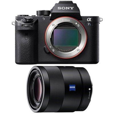 Sony A7s Ii Full Frame Mirrorless Interchangeable Lens Camera Body 55mm Lens Bundle Best Digital Camera Telephoto Zoom Lens Camera Lens