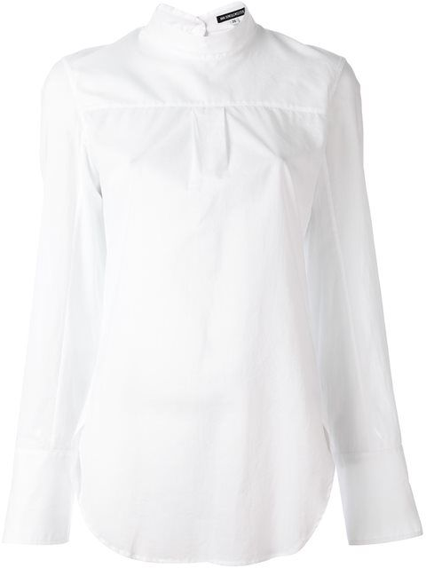 ANN DEMEULEMEESTER front pleat blouse. #anndemeulemeester #cloth #blouse