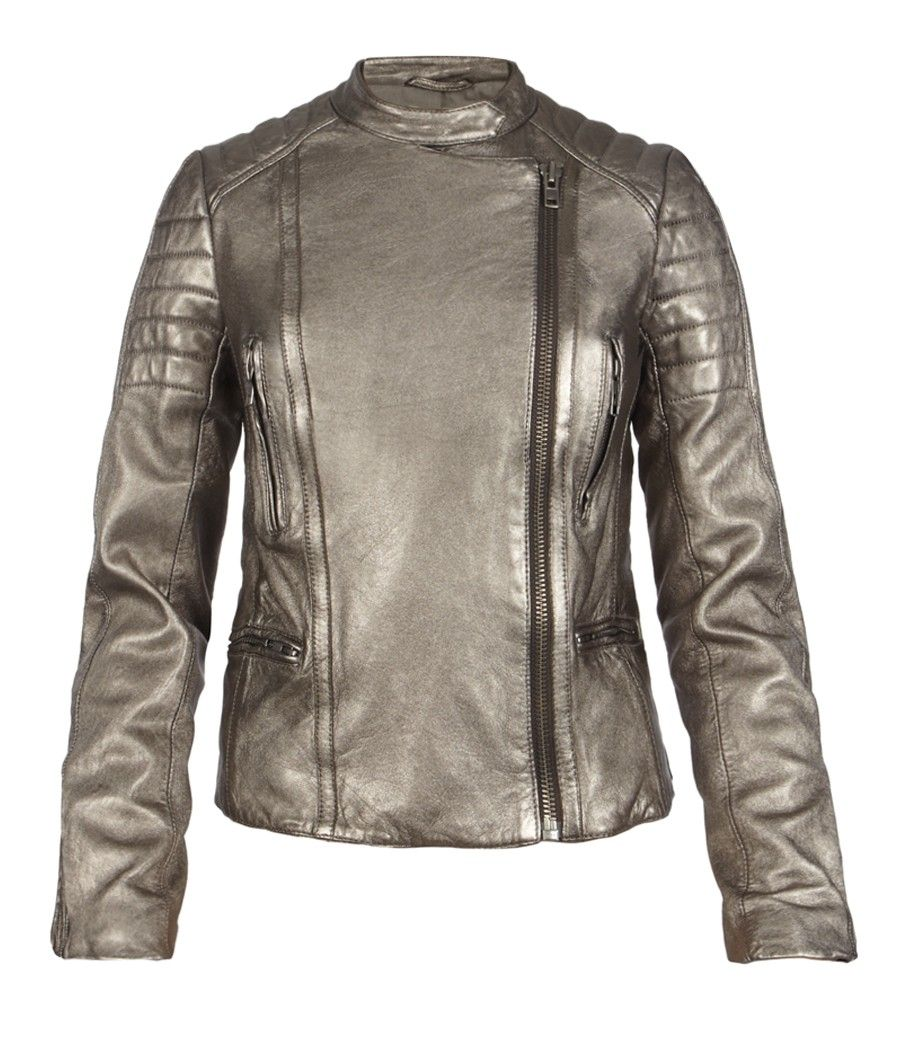 Metallic Colby Leather Jacket AllSaints