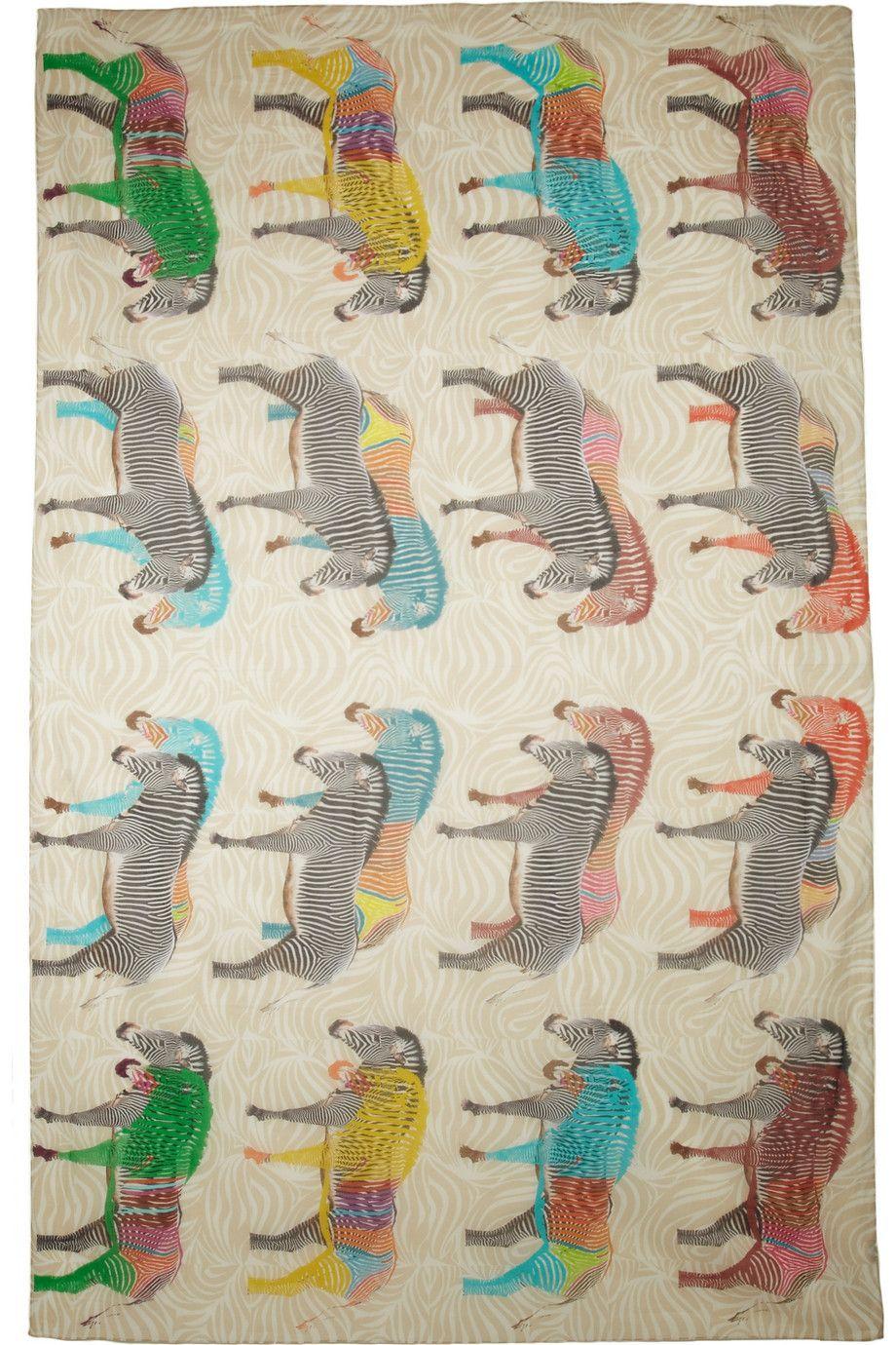 YARNZ Printed cotton scarf