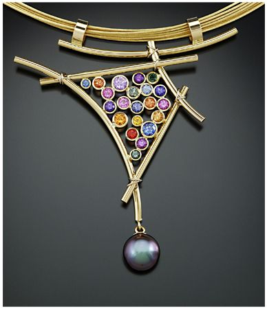 Susan Marie Designs Japanese Cultured Pearl with multicolored