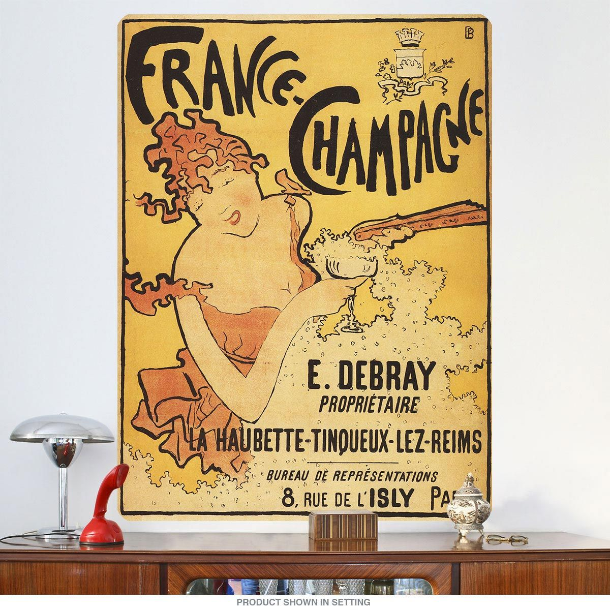 France Champagne Art Nouveau Wall Decal | Pinterest | Champagne ...