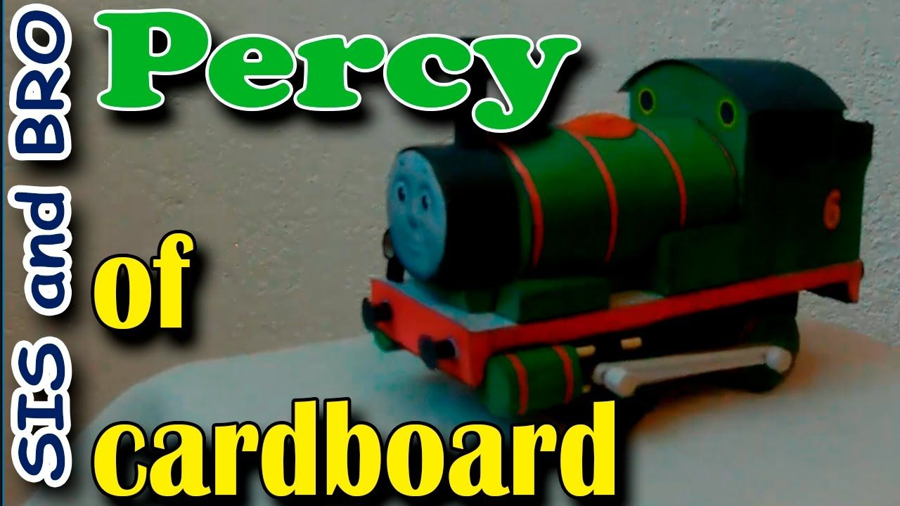 Percy of cardboard | Cardboard Models Trains Thomas and Friends ...