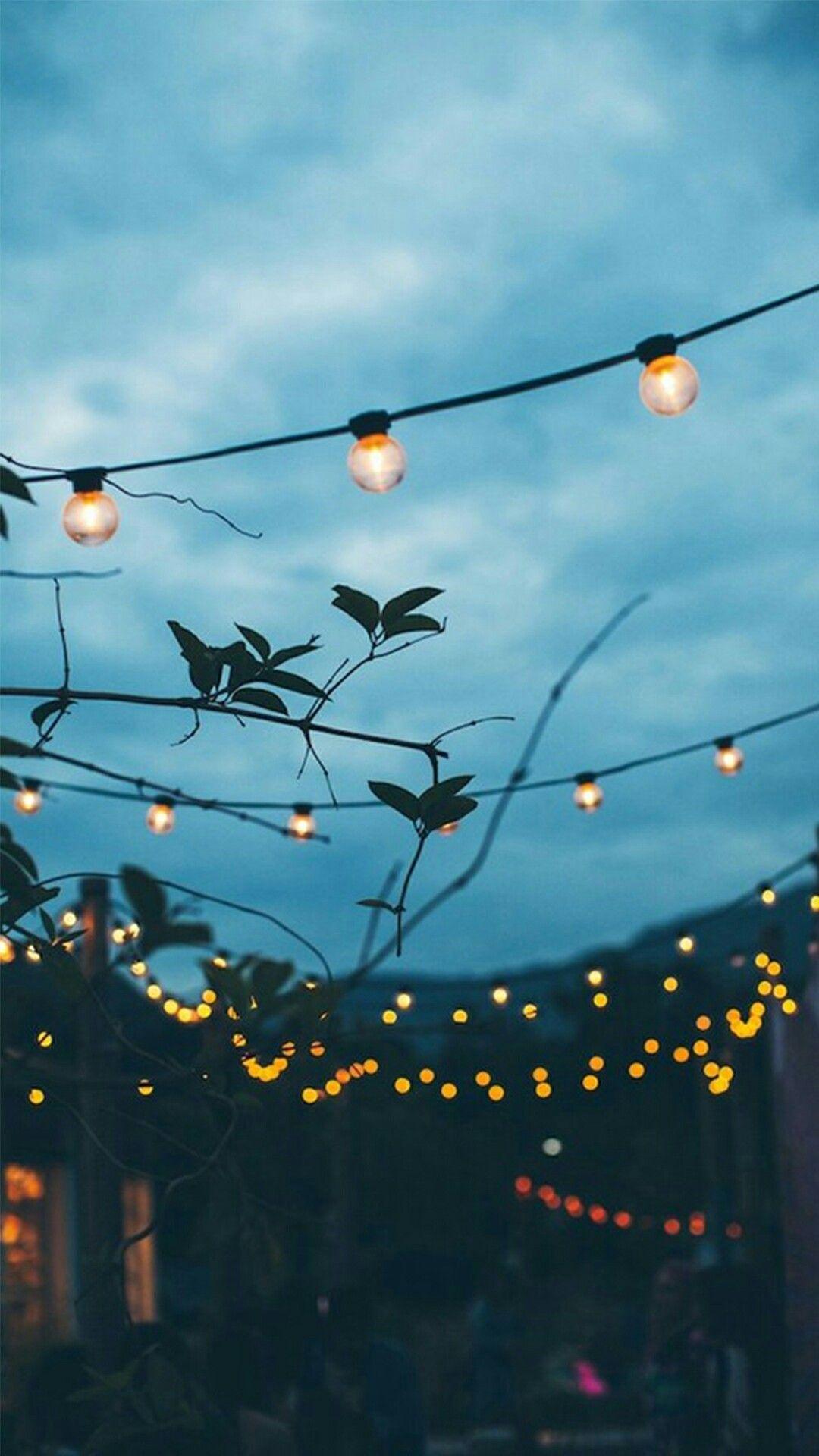 night lights. backyard.   aesthetics.   Summer aesthetic ...
