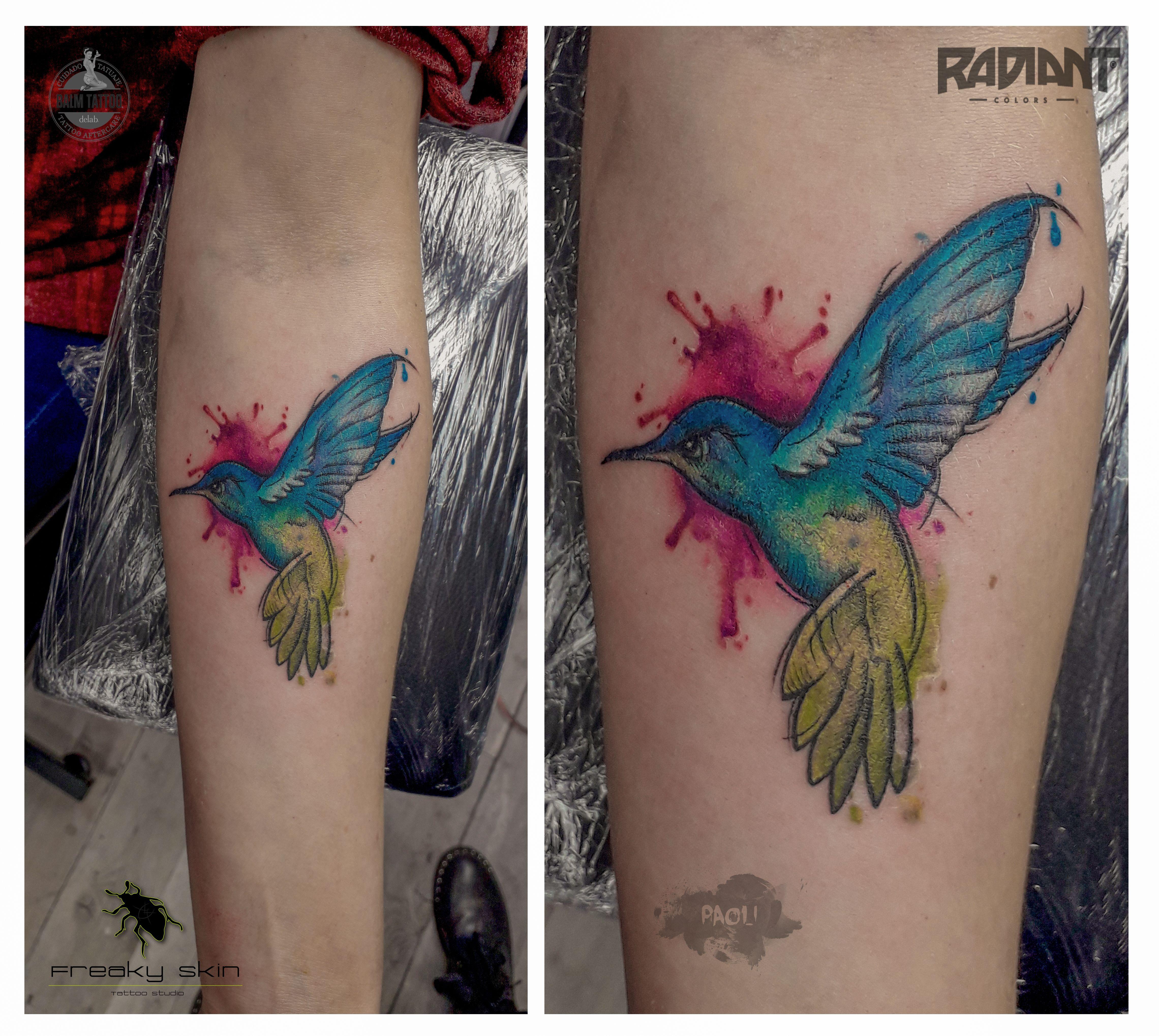 Hummingbird Colibri Koliber Tattoo Tatuaz Ink Design Art