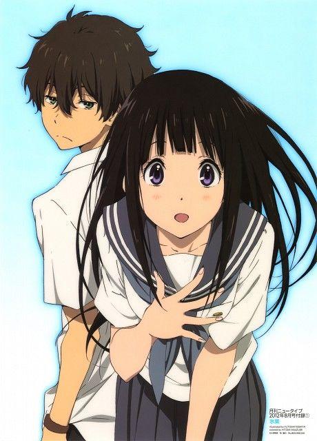 anime nishiya futoshi kyoto animation hyouka houtarou oreki eru chitanda animacion japonesa chica manga personajes