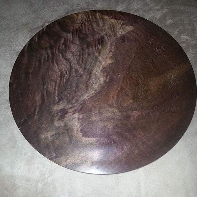 Wood Plate #weekswoodwerx #top #tops #spinningtops #spinstation #woodporn #woodcrafted #handcrafted #woodturning #wood #handmade #woodplate
